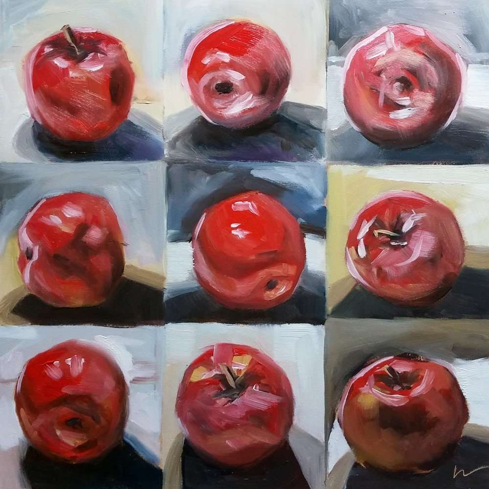 Nine Red Apples